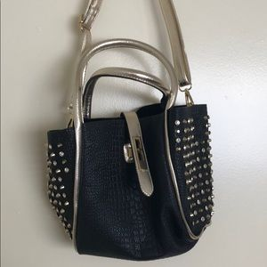 Black and Gold Studded Bag